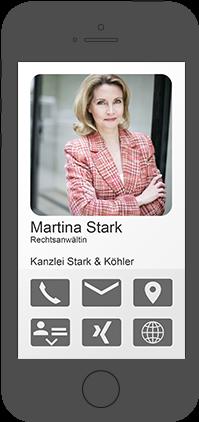 Beispiel einer XQR-Smartsite, angesehen auf einem Smartphone